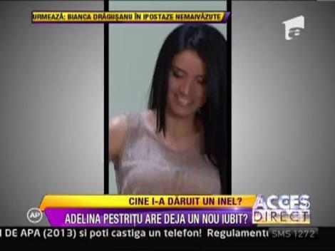 Adelina Pestritu a primit un inel stralucitor de la persoana misterioasa