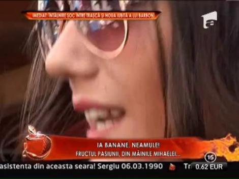 Mihaela, noua iubita a lui Sergiu Barboni, a vandut banane in piata