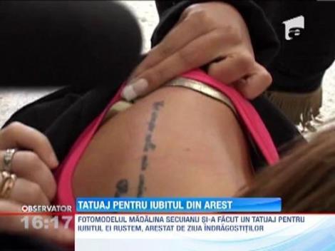 """Madalina Secuianu isi sustine logodnicul arestat cu... tatuaje: """"Iubirea invinge tot"""""""