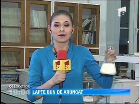 Lapte cu aflatoxina la inca doua centre de colectare! Produsul nu a ajuns in comert