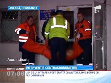 Interventie contracronometru a pompierilor constanteni