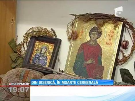 Preotul care a lesinat in fata bisericii Sf. Mina este in moarte cerebrala