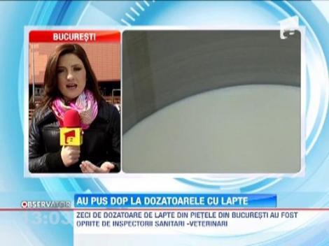 Peste 300 de dozatoare pentru lapte din pietele din Capitala au fost oprite