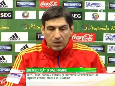 Victor Piturca ataca Ungaria cu Mutu, Stancu, Grozav si Torje