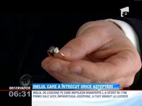 Inelul daruit de Napolen Bonaparte primei sale sotii, vandut cu aproximativ un milion de dolari