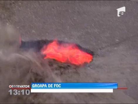 Clipe demne de dosarele X, in Baia Mare!  O groapa plina cu apa a fiert si a fumegat cateva minute