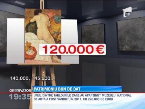 Sute de tablouri dispar de pe peretii Muzeului de Arta! Nu sunt furate, ci restituite proprietarilor
