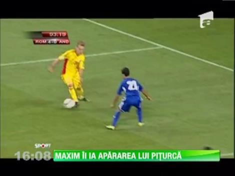 Alexandru Maxim ii ia apararea lui Victor Piturca