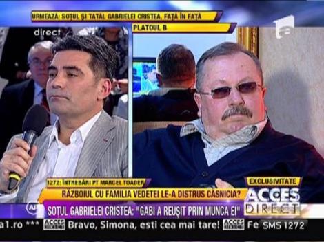"Marcel Toader: ""Tatal Gabrielei Cristea abereaza"""