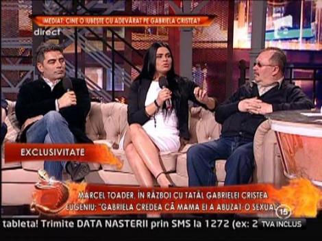 Marcel Toader si tatal Gabrielei Cristea, fata in fata cu psihologul Nicoleta Vascan