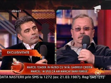 "Tatal Gabrielei Cristea: ""Marcel Toader m-a amenintat ca ma intinde pe gard"""