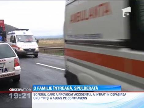 Familie spulberata pe drumul dintre Deva si Arad