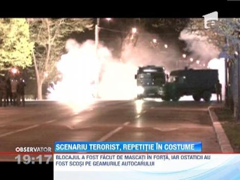 Scenariu terorist, repetitie in costume