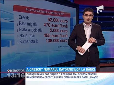 A crescut numarul datornicilor la banci