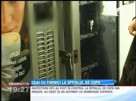 Ceai cu furnici, descoperit la  un automat dintr-un spital din Brasov