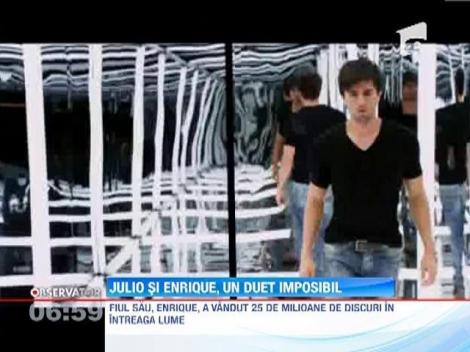"""Julio Iglesias exclude un duet cu fiul sau Enrique! """"A canta impreuna cu el mi se pare ceva comercial"""""""