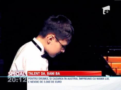 """""""Micul Mozart"""" de la Iasi are o bursa de la stat de 5 euro pe luna."""