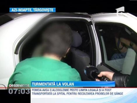 O femeie de 39 de ani a fost prinsa in stare avansata de ebrietate la volan