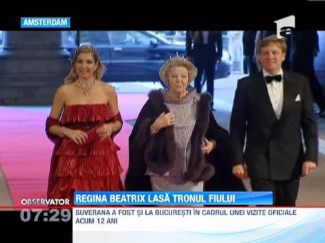 Regina Beatrix preda tronul Printului Willem-Alexander