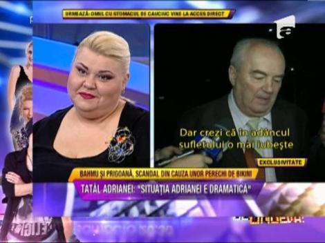 """Tatal Adrianei Bahmuteanu, despre impacarea fiicei lui: """"Situatia e dramatica"""""""