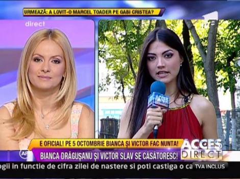 Bianca Dragusanu a stabilit data nuntii cu Victor Slav!