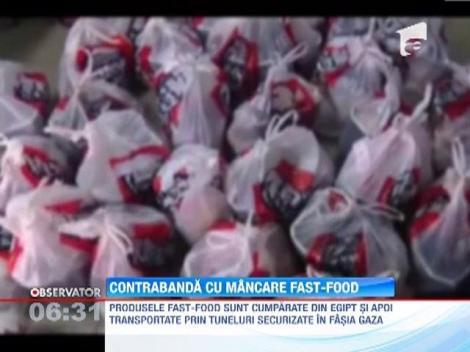 Contrabanda cu produse fast-food in Fasia Gaza