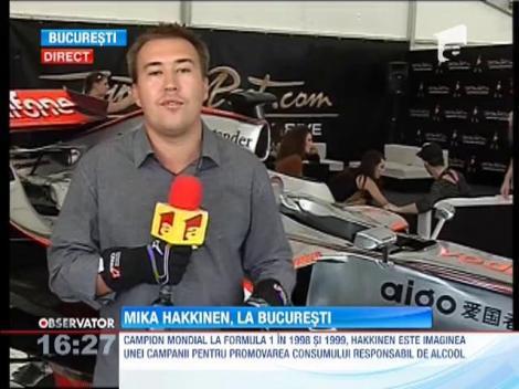 Mika Hakkinen piloteaza la Bucuresti o masina Caparo T1