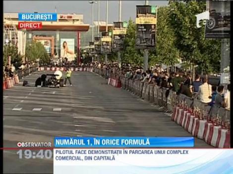 UPDATE/ Mika Hakkinen piloteaza la Bucuresti o masina de Formula 1