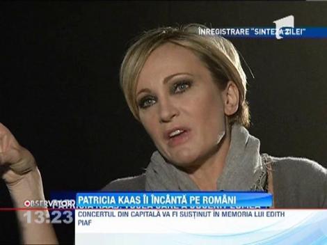 Patricia Kaas va sustine un concert in memoria lui Edith Piaf la Sala Palatului din Bucuresti.