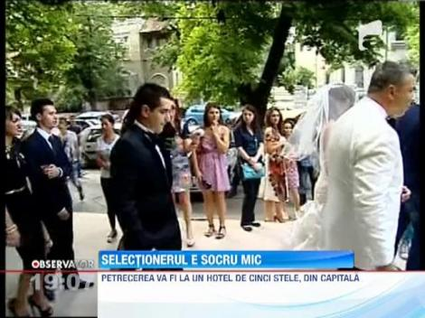 Victor Piturca e socru mic! Fiica selectionerului, Claudia, s-a maritat cu Mihai Naboiu