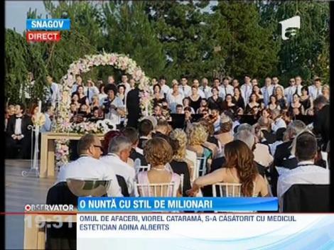 Nunta cu stil! Viorel Catarama si Adina Alberts s-au casatorit la Snagov