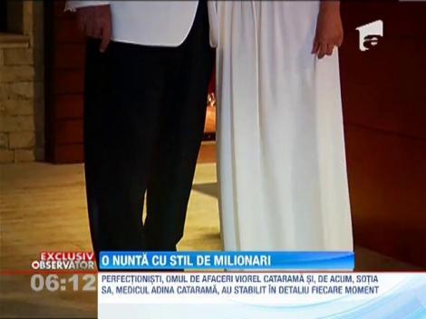 Imagini in EXCLUSIVITATE de la nunta lui Viorel Catarama si a Adinei Alberts!