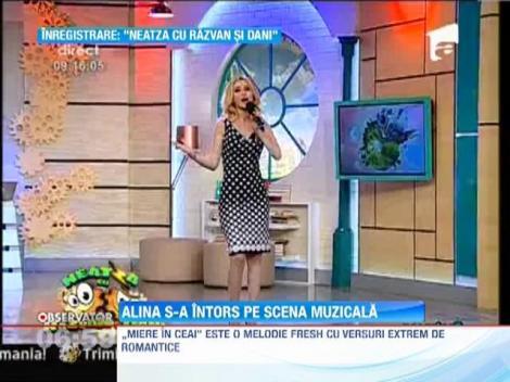 """Alina Sorescu revine cu un nou single - """"Miere in ceai"""""""