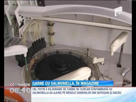 Carne de curcan infestata cu salmonella, in magazine din Botosani si Bacau