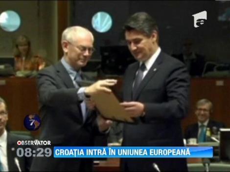 Croatia va adera oficial in Uniunea Europeana