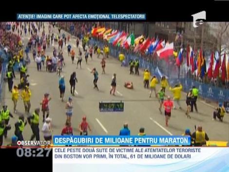 Despagubiri de zeci de milioane de dolari pentru victimele atentatelor teroriste de la maratonul din Boston