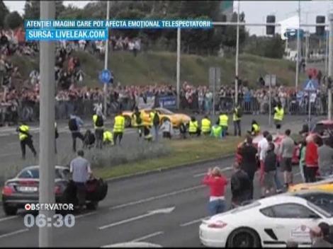Polonia: 17 persoane au fost ranite in timpul unui show automobilistic