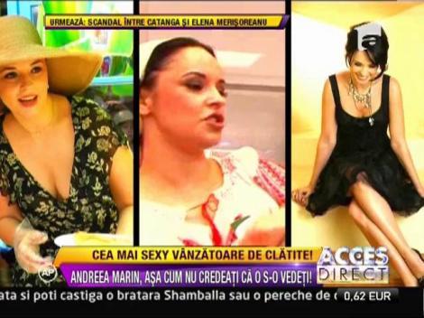 Andreea Marin, cea mai sexy vanzatoare de clatite