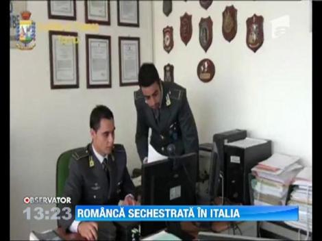 Romanca sechestrata in Italia