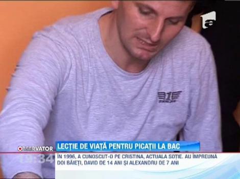 Lectie de viata pentru picatii la BAC. Un barbat din Timisoara, invalid si bolnav, a trecut examenul cu media 7!