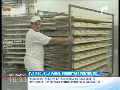 TVA redus la paine, prioritate pentru PC