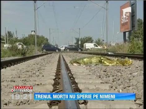 Ignoratul barierelor de langa calea ferata, un sport national pentru romani
