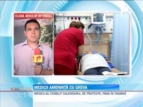Medicii din Romania ameninta cu greva generala