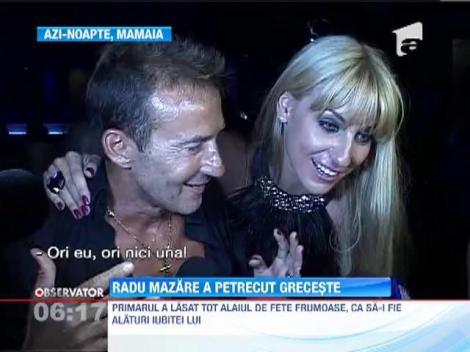 Radu Mazare si iubita lui oficiala au petrecut noaptea pe ritmuri grecesti