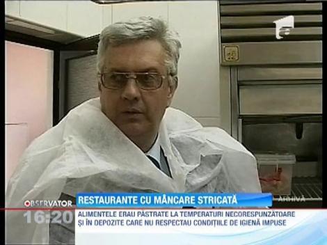 Restaurante cu alimente stricate
