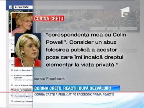Corina Cretu, primele reactii despre dezvaluirile privind o idila cu Colin Powell