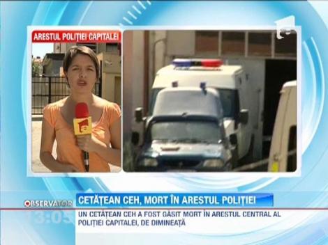 Un cetatean ceh a fost gasit mort in celula din arestul Politiei Capitalei