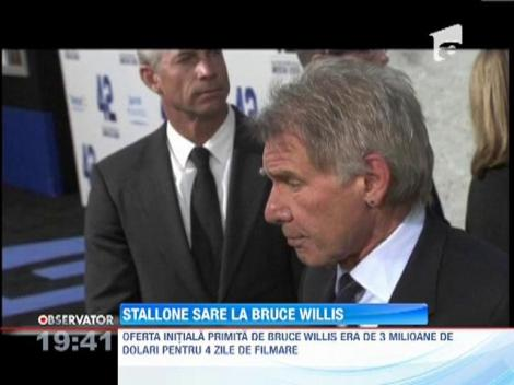 Scandal intre actorii Sylvester Stallone si Bruce Willis