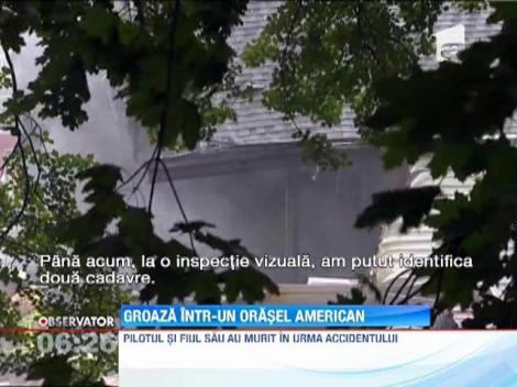 Un avion s-a prabusit peste doua case in SUA