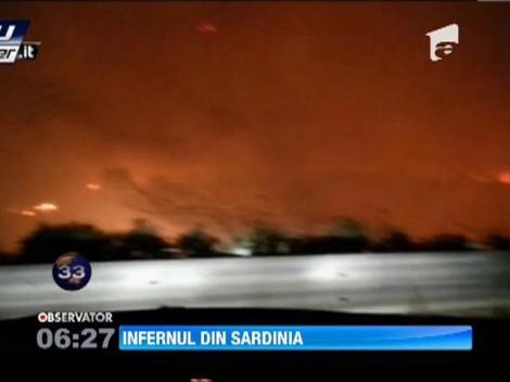 Incendiu pe insula italiana Sardinia
